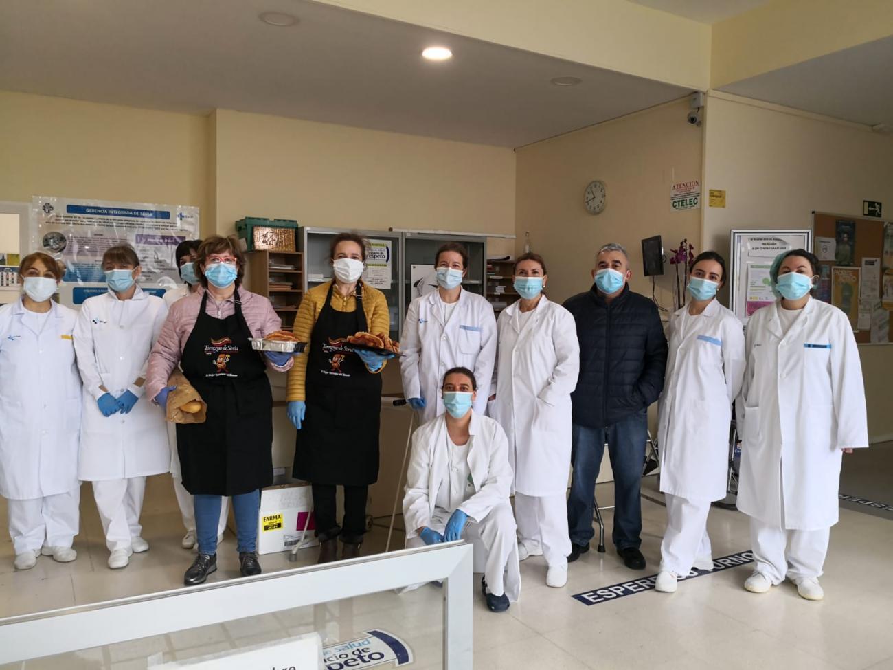 Torrezno de Soria agradece con un almuerzo el trabajo de las personas que están luchando en primera línea de la pandemia