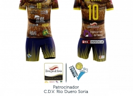 La nueva camiseta que vestirán los líberos del C.D.V. Río Duero Soria de la Superliga Masculina